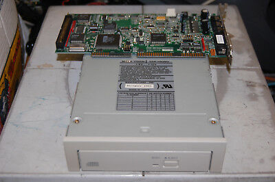 Vintage Media Vision CDR-H93MV SCSI CD-ROM Drive & Pro Audio Spectrum 16 ISA Crd