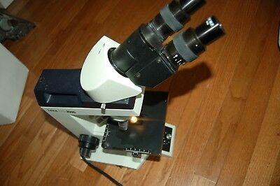 Leica Atc 2000 Binocular Microscope 10xwf Eye Piece Achro 40.1 Objectives 100x