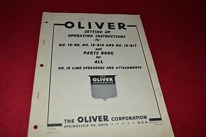 Oliver-Tractor-No-18-Lime-Spreader-Parts-Book-Operators-Manual-STOH
