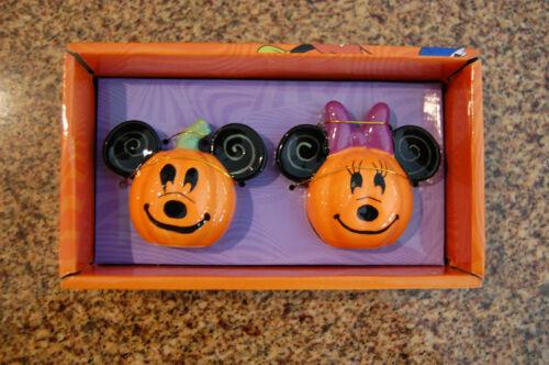 Disney Mickey & Minnie Halloween Pumpkin Salt & Pepper Shakers ++FREE SHIPPING++