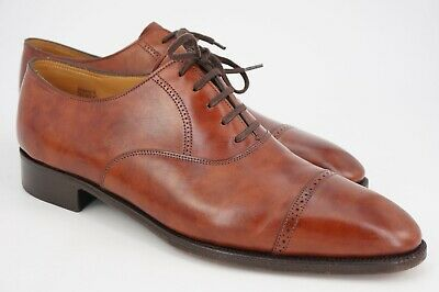 $1965 | JOHN LOBB PHILLIP BALMORAL OXFORD UK 8 E US 9 BROWN MUSEUM LEATHER
