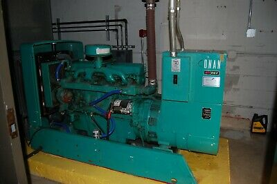 Onan 45 Kw Model Odef-15r Diesel Standby Generator And Transfer Switch