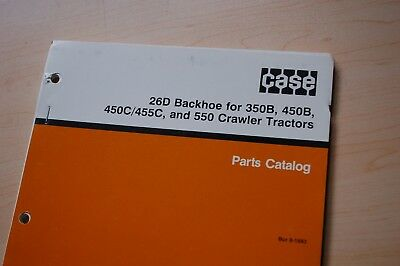 Case 350b 450b 450c 455c 550 Crawler 26d Backhoe Parts Manual Book Catalog Spare