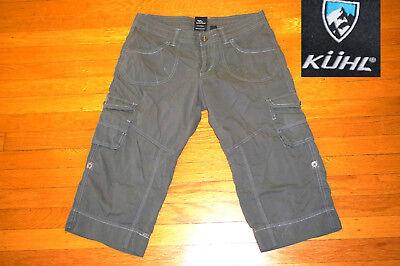 Kuhl Kapri's Capri Pants CONVERTS TO SHORTS  Olive stretch  6 WM