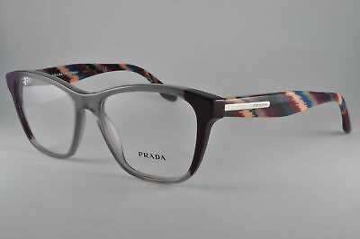 Prada Eyeglasses PR 04TV VYN1O1 Plum/Grey/Plum, Size 52-16-140