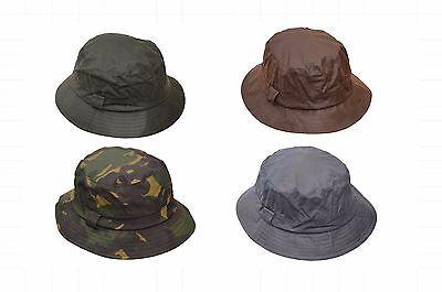 Walker & Hawkes Mens Ladies Wax Bush Bucket Hat Hunting Shooting 100% Cotton - Ladies Cotton Bucket Hat