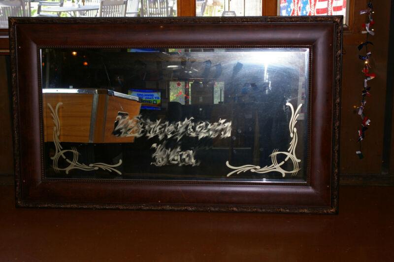 "Vintage Back Bar Mirror 74"" X 44"""