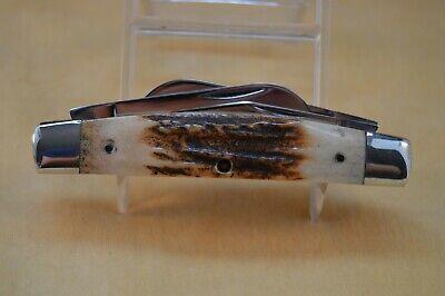 Vintage Queen Cutlery No. 8155 Stag Congress Pocket Knife (ID:DEA130)