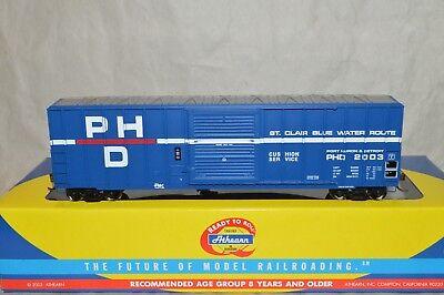 Ho Scale Athearn Rtr Port Huron   Detroit Rr Mi 50 Fmc Modern Box Car Train