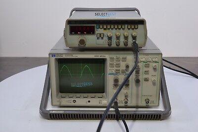 Agilent Hp 54600b 100 Mhz Oscilloscope Instek Gfg8016g 2 New Probes More
