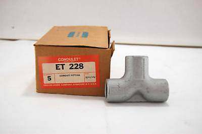 New 5x Crouse Hinds Condulet Conduit Fitting 34 X 34 X 34 Et 228 T