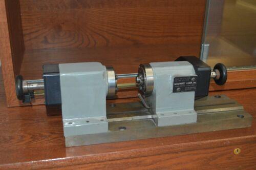 Accu-met Precision Laser Welding Positioner Lathe (glass lathe)