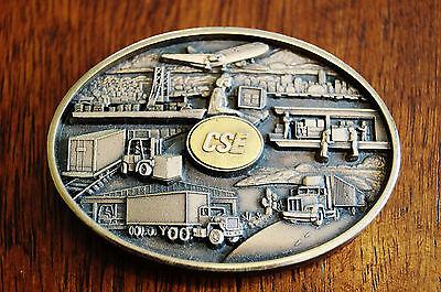 Jostens CSE Transport Truck Company Belt Buckle Rare