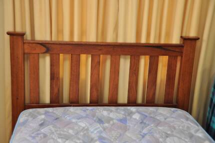 Miracoil King Single Ensemble Bed with lovely timber bedhead Bunglegumbie Dubbo Area Preview
