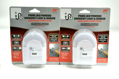 Phone Jack Powered Emergency Night Light & USB Charger by VR3
