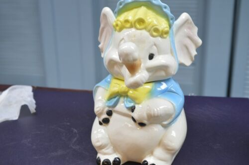 McCoy Elephant Holding Ice Cream Cone Cookie Jar size 13 x 6 inches