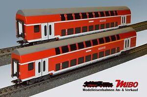 Märklin H0 2x Doppelstock-Nahverkehrswagen DB AG Neu aus Startset 29479