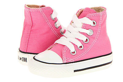 Pink Toddler Converse Shoes (Converse All Star Hi Tops Pink Toddler Infant Baby Kids Shoes)