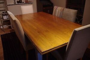 Farmhouse-style solid timber dining table Burnside Burnside Area Preview