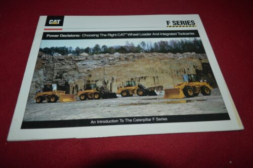 Caterpillar F Series Wheel Loader Brochure DCPA14
