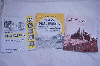 Mw Gear Co.tractor Direct Axle Dual Hubs Brochures John Deere Ih Ford Ac Oliver