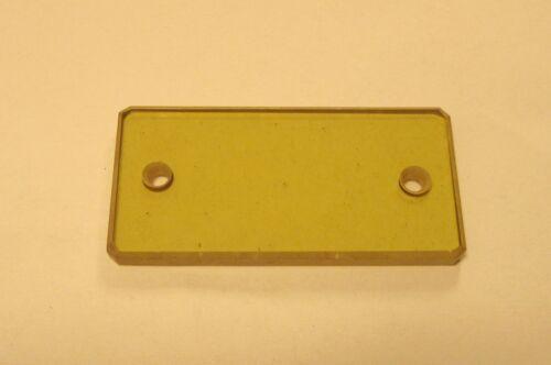 Optical ZnSe,  Zinc Selenide Window with holes 38.5mm X 19.3mm X 2.2mm,