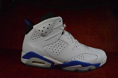 WORN 2X Nike Air Jordan 6 Retro White Sport Blue Size 9 2014 384664 107