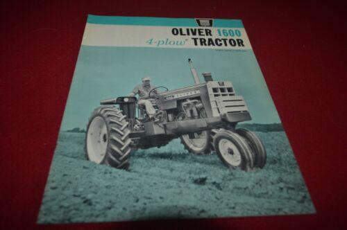 Oliver 1600 Tractor Brochure FCCA