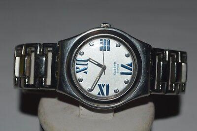2000 Swatch Ironie Medium Uhr YLS-114G Sobriquet Schweizer Unisex Jungen + Damen