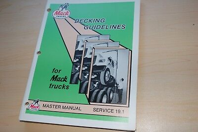 Mack Trucks Decking Guidlines Master Repair Shop Service Manual Overhaul Book