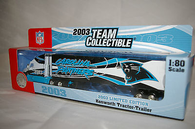 2003 Carolina Panthers Die cast Truck Trailer Collectibles 9 1/2 x 2