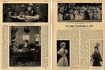 Die einzige feministische Frauenzeitung der Welt  Le Fronde MMe.Durand von 1900