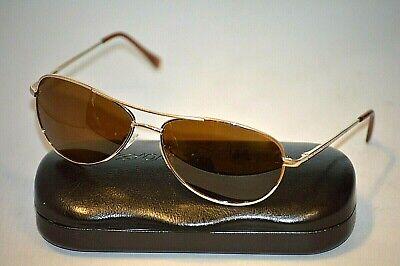 SUNCLOUD PATROL Gold Metal Unisex Polarized Aviator Sunglasses (Suncloud Aviator Sunglasses)