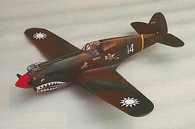 1/14 Scale American WW-II Curtiss P-40B Warhawk Plans, Templates, Instructions
