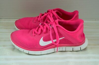 9d81ae3a1a7 NIKE FREE 4.0 V3 RUNNING SHOES - Pink   White ( SIZE 7.5 ) WOMEN`S VGUC