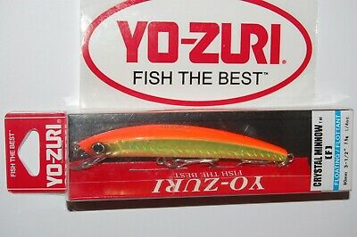 "Yo-Zuri 3D Inshore Minnow Floating Lure 3 1//2/"" NEW Gold Black R1212HGBL"