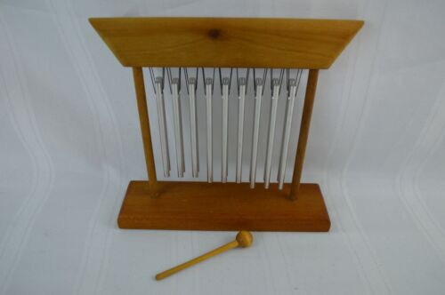 JW Stannard Handtuned Tranquility Tabletop Wind Chime Zen with Mallet - Nice!