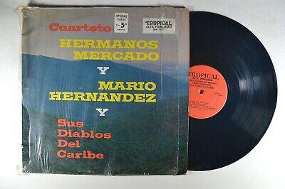 CUARTETO HERMANOS MERCADO y Mario Hernandez y Sus Diablos Del CarLATIN LP Shrink
