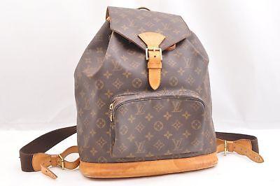 Authentic Louis Vuitton Monogram Montsouris GM Backpack M51135 LV 44559