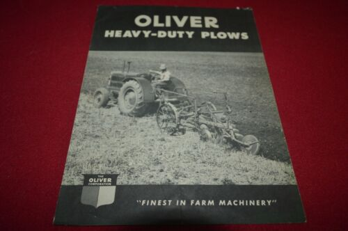 Oliver Tractor Heavy Duty Plows for 1948 Brochure FCCA