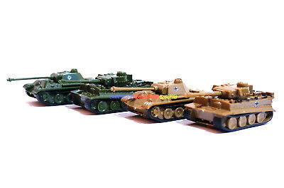 New 1/144 Mini Tank WWII German Panther & Tiger I (Color Choose) Green or Khaki