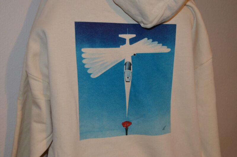 BURT RUTAN DESIGN~HOODIE~RUTAN MODEL 35~NASA AD-1~ART BY DAN WOODWARD~NEW~XL