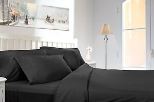 1800 COUNT DEEP POCKET 4 PIECE BED SHEET SET - 12 COLORS AVAILABLE IN ALL SIZES