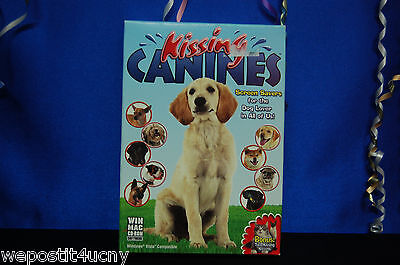 Kissing Canines Fun Screen Savers New For Win Or Mac Cd Rom Free Next Day Ship