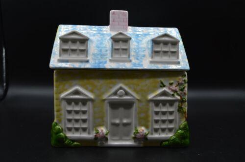 Pier 1 Hand Painted Cookie Jar House Design Pastel Colors