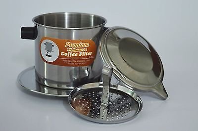 Set of 2 Vietnamese Coffee Filters Stainless Steel Press Dripper Maker Brew 8oz