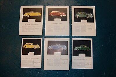 6 Vintage 1939 Packard Super Eight magazine ad advertisement car literature , used for sale  Atlanta