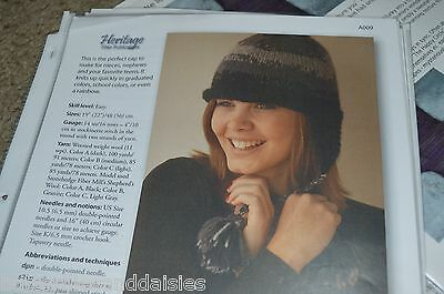 - Heritage Fiber Knitting Pattern Ear Flap Cap Hat