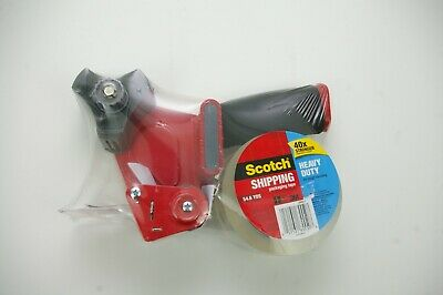 3m Scotch Heavy Duty Shipping Packing Tape Dispenser Gun W 1 Roll 1.88 Tape