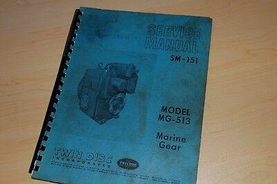Twin Disc Mg-513 Marine Transmission Service Manual Repair Shop Book Boat Motor